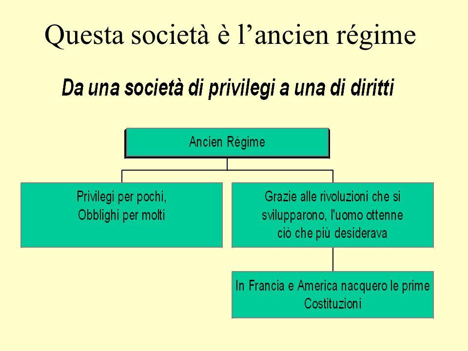 Questa società è l'ancien régime