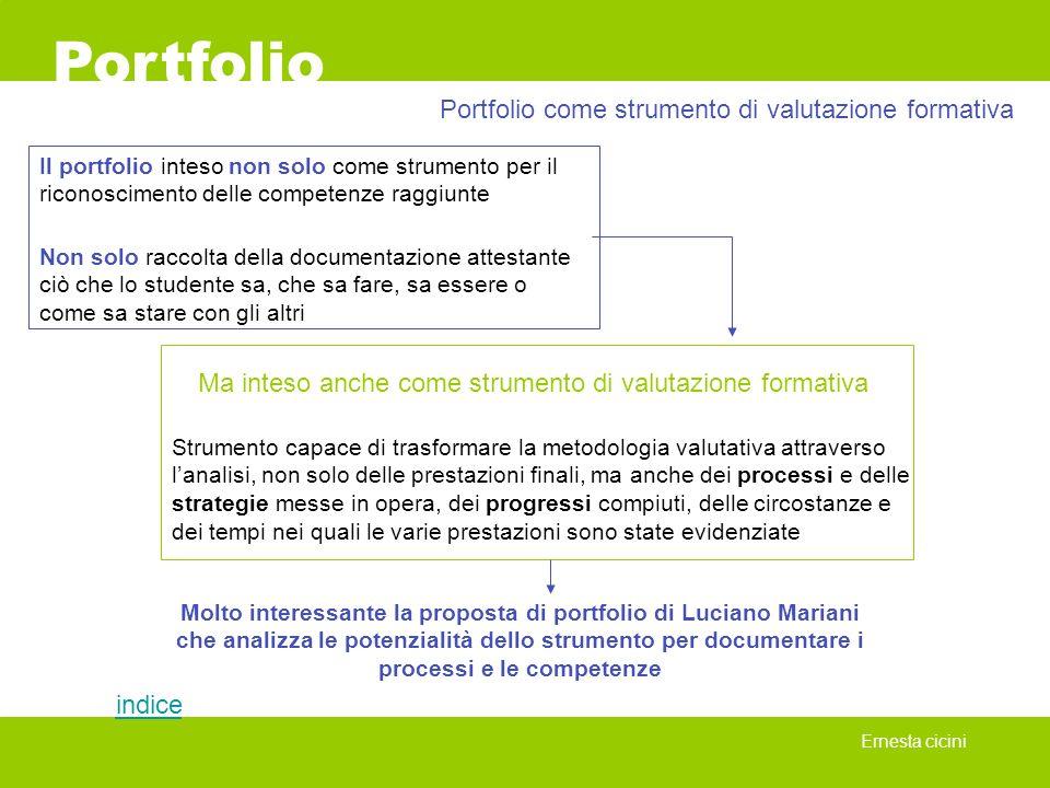 Portfolio Portfolio come strumento di valutazione formativa