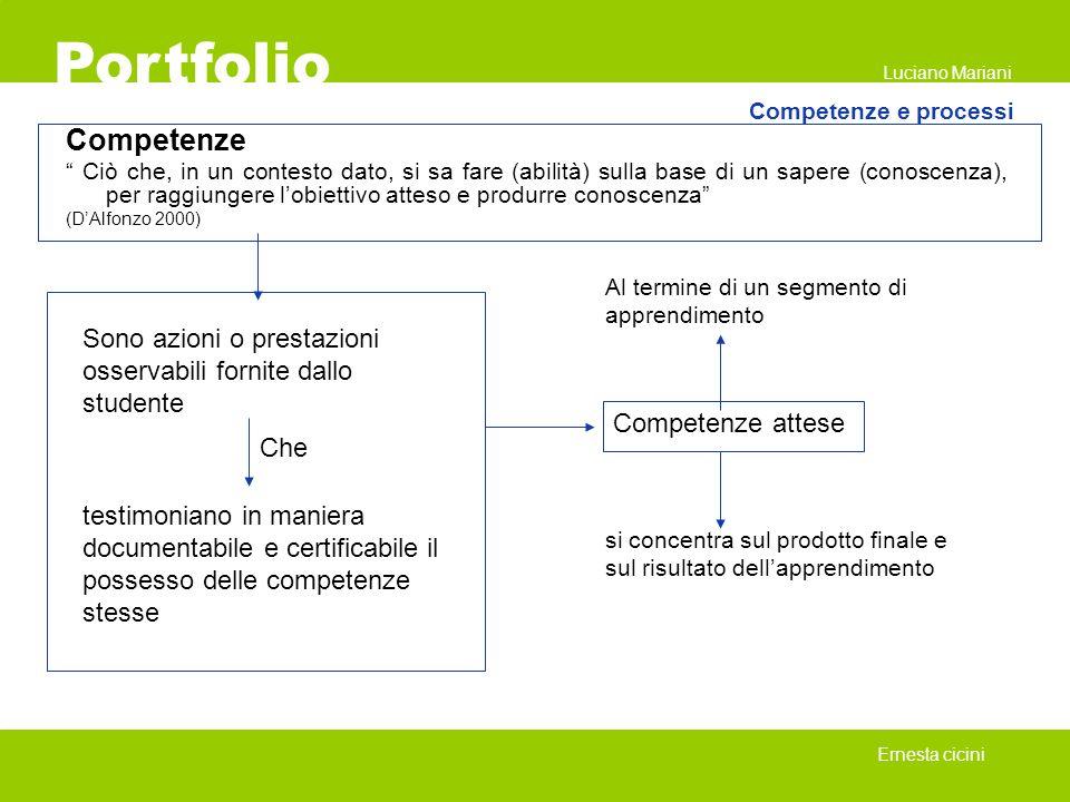 Portfolio Luciano Mariani. Competenze e processi. Competenze.