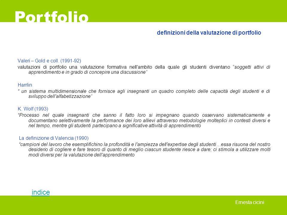 definizioni della valutazione di portfolio