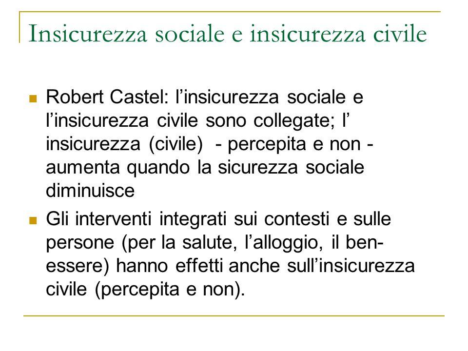 Insicurezza sociale e insicurezza civile