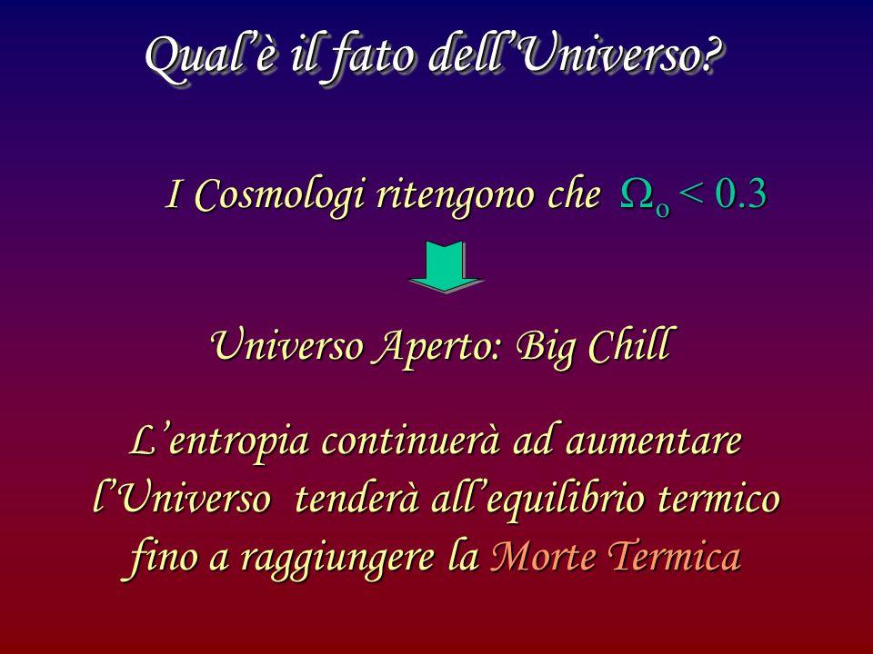 Qual'è il fato dell'Universo