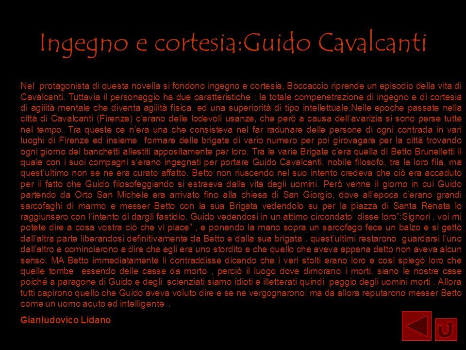 Ingegno e cortesia:Guido Cavalcanti