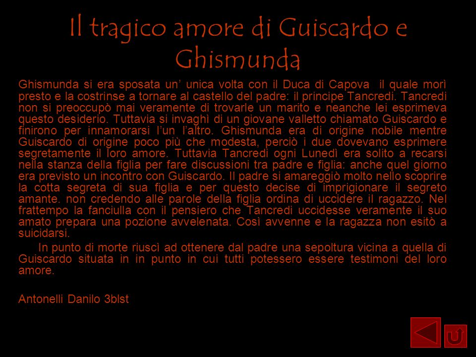 Il tragico amore di Guiscardo e Ghismunda