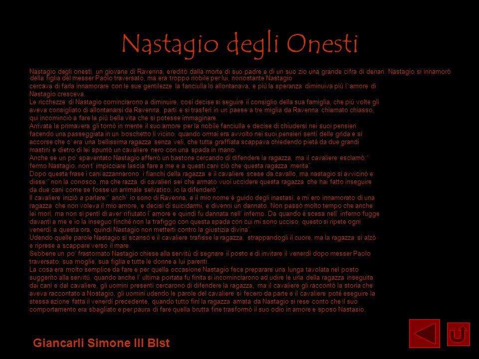 Nastagio degli Onesti Giancarli Simone III Blst