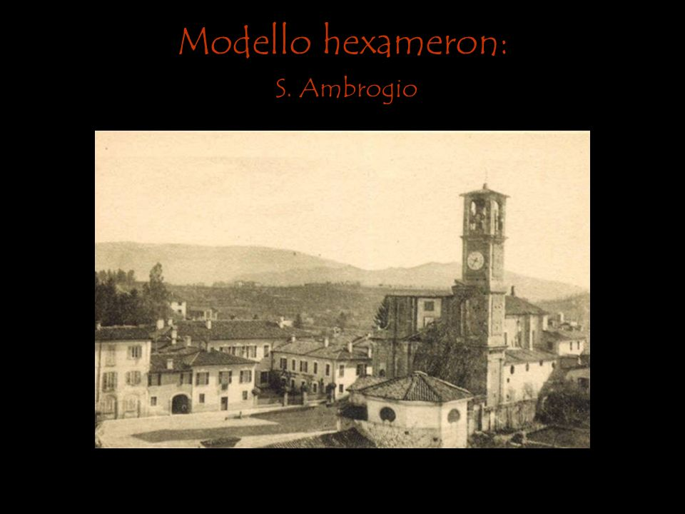 Modello hexameron: S. Ambrogio