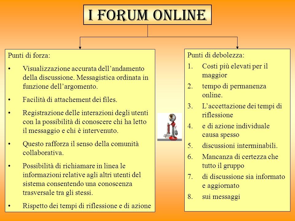 I forum online Punti di forza: