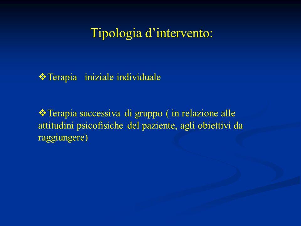 Tipologia d'intervento: