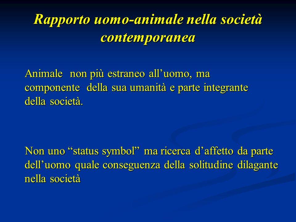 Rapporto uomo-animale nella società contemporanea