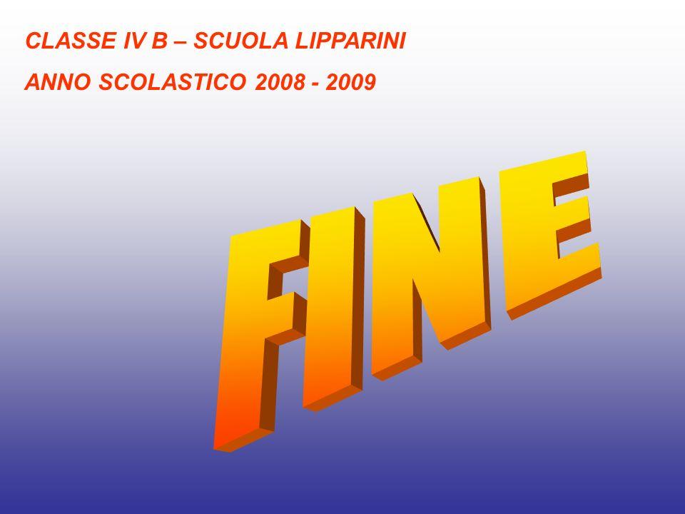 CLASSE IV B – SCUOLA LIPPARINI