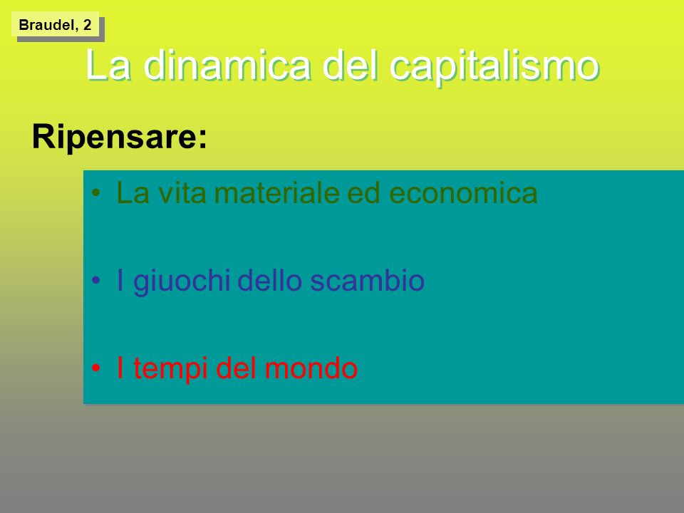 La dinamica del capitalismo