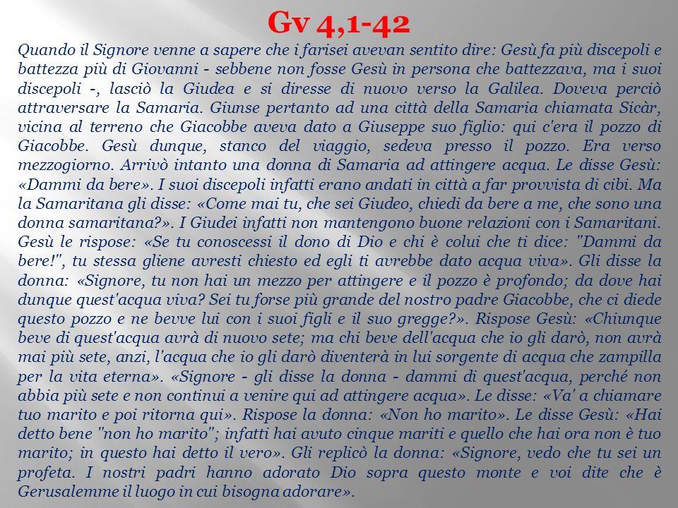Gv 4,1-42