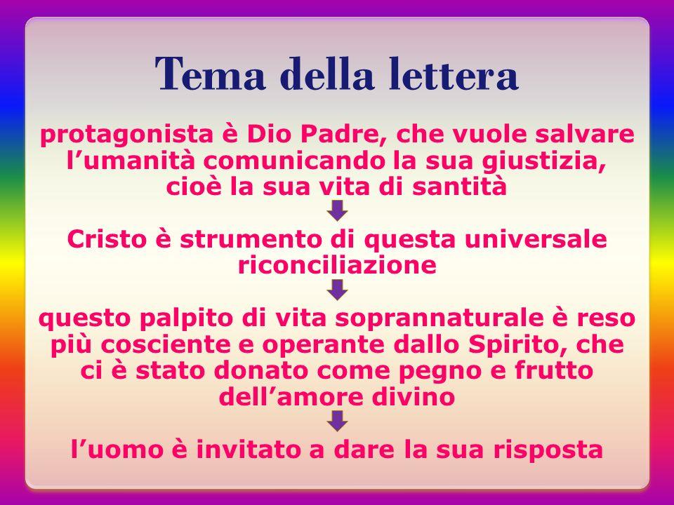 Tema della lettera