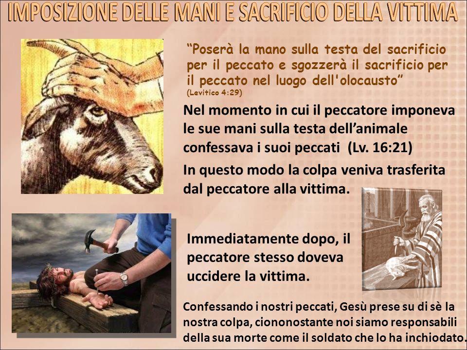 IMPOSIZIONE DELLE MANI E SACRIFICIO DELLA VITTIMA