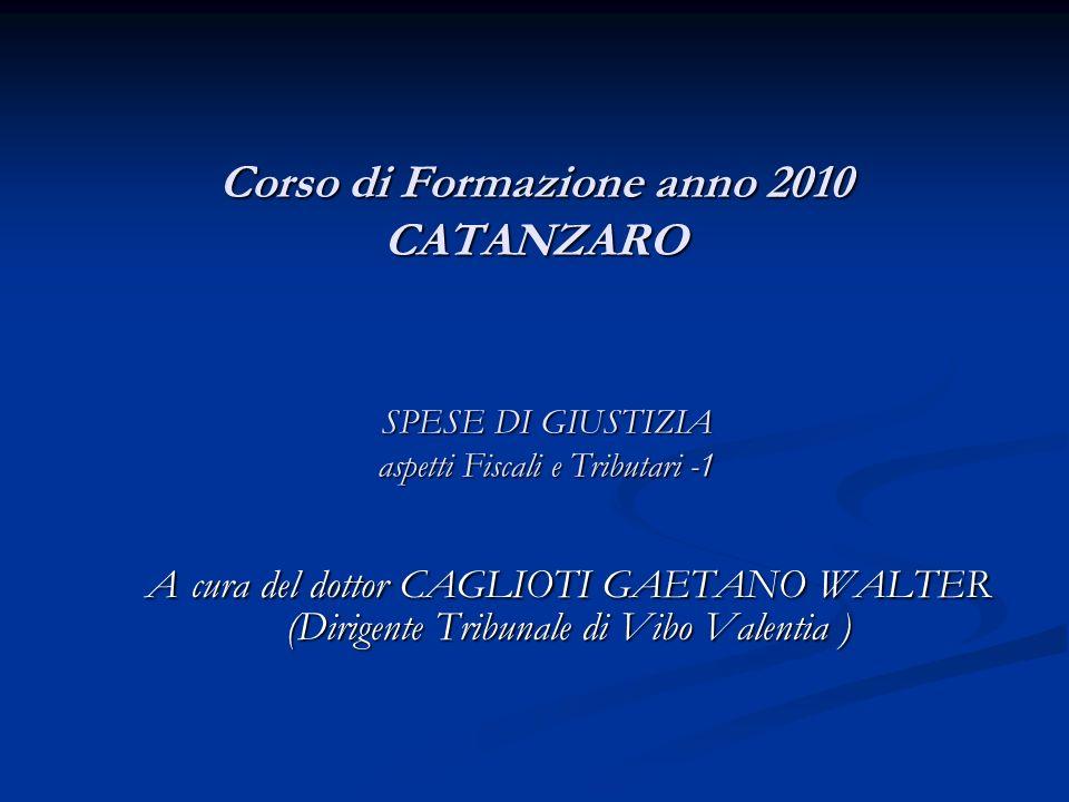 Corso di Formazione anno 2010 CATANZARO