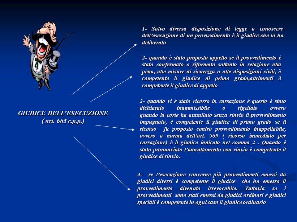 GIUDICE DELL'ESECUZIONE ( art. 665 c.p.p.)