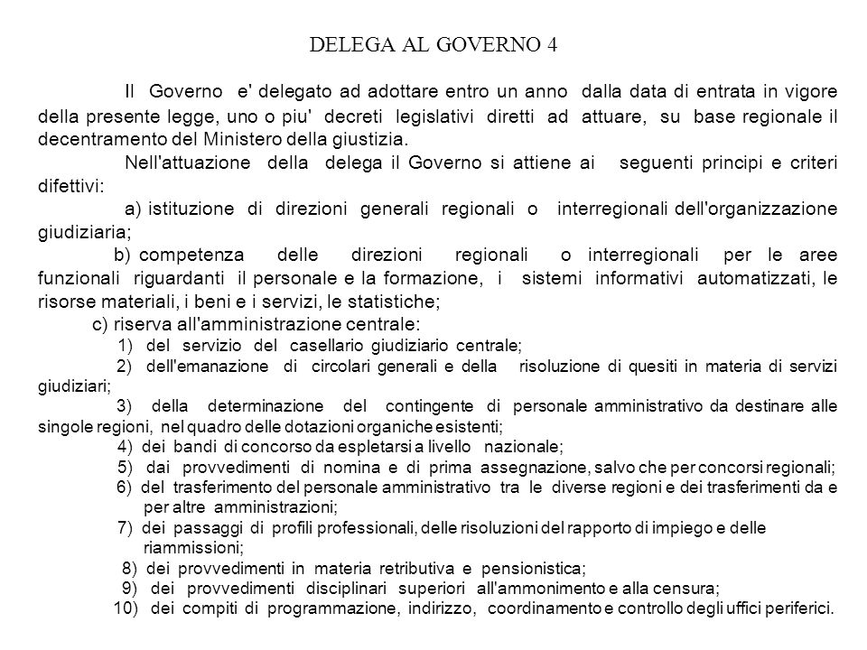 DELEGA AL GOVERNO 4
