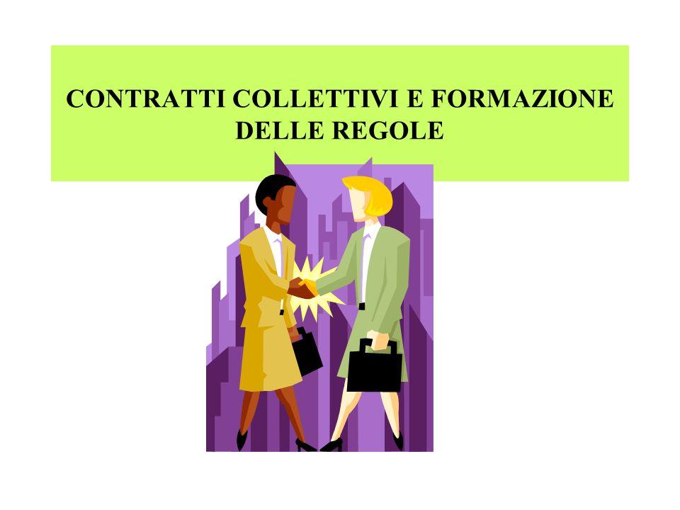 CONTRATTI COLLETTIVI E FORMAZIONE DELLE REGOLE