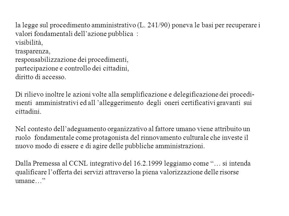 la legge sul procedimento amministrativo (L
