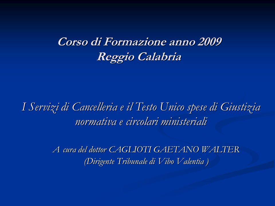 Corso di Formazione anno 2009 Reggio Calabria