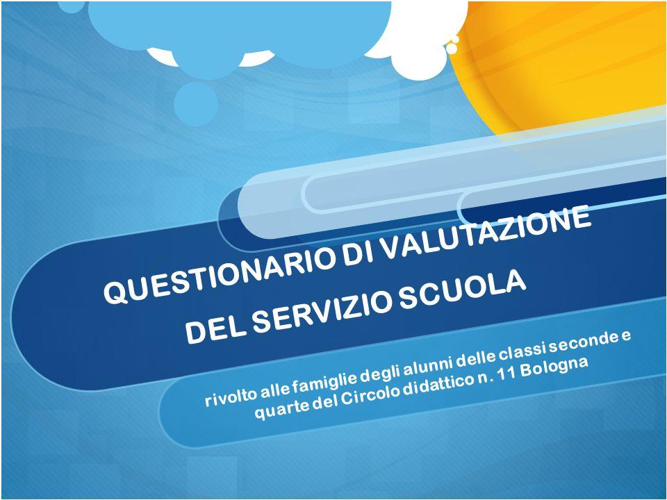 QUESTIONARIO DI VALUTAZIONE DEL SERVIZIO SCUOLA