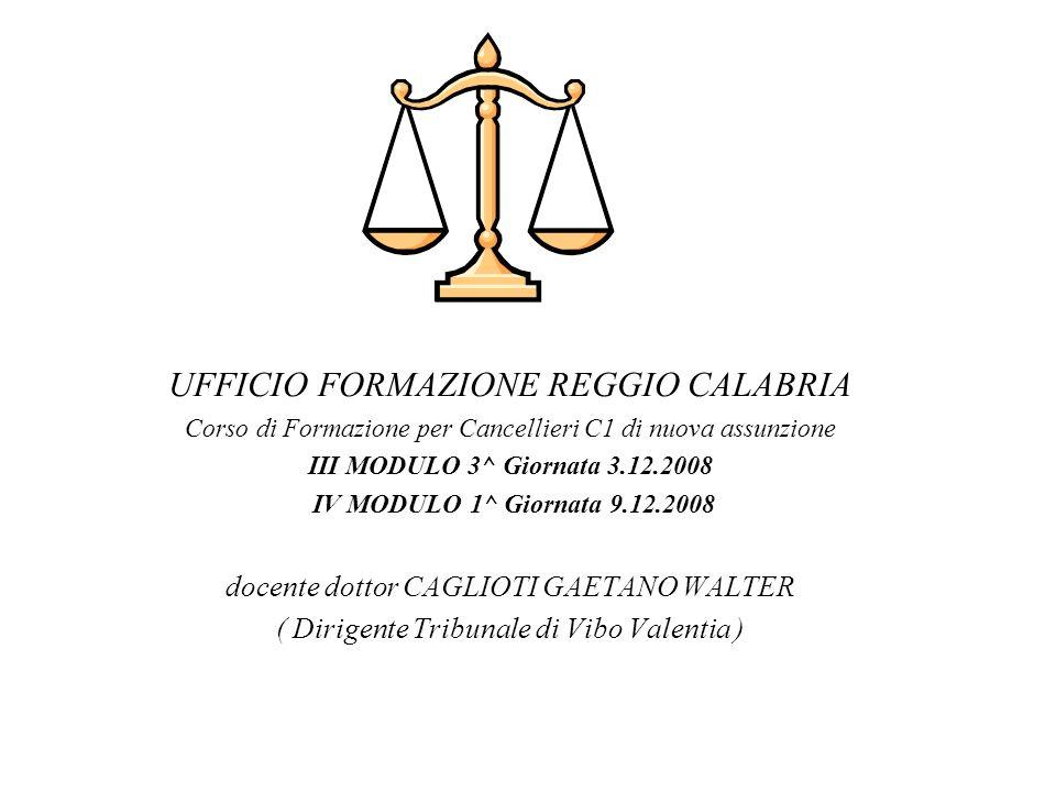 UFFICIO FORMAZIONE REGGIO CALABRIA