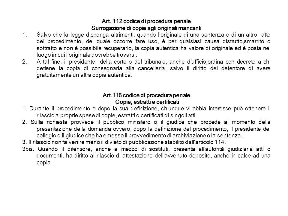 Art. 112 codice di procedura penale