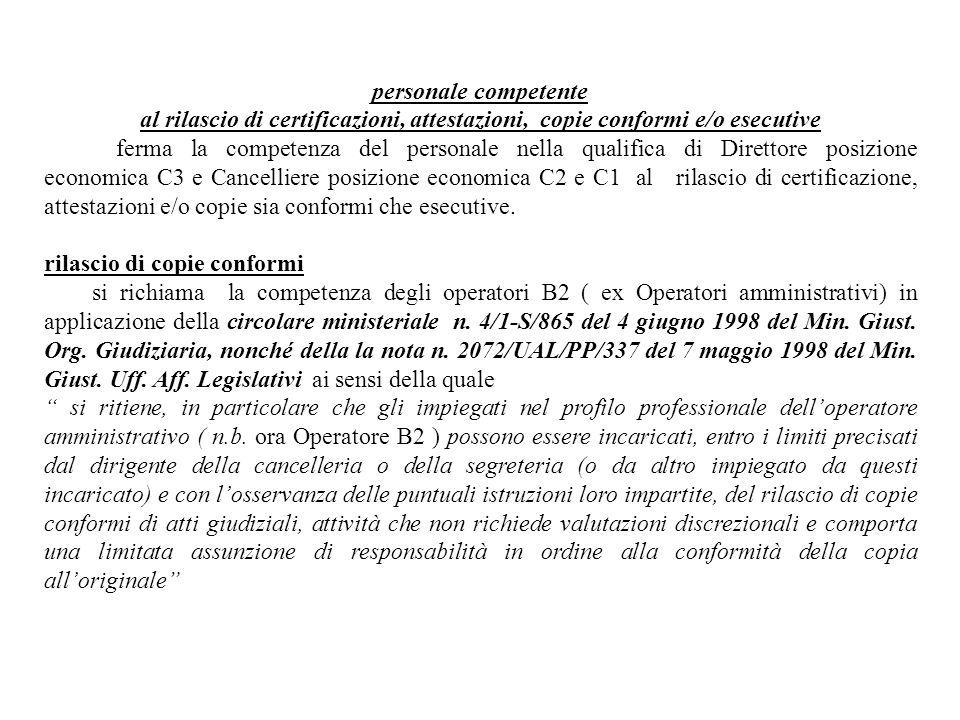 rilascio di copie conformi