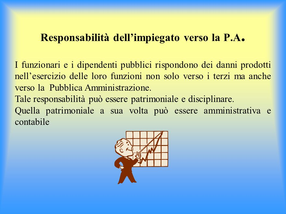 Responsabilità dell'impiegato verso la P.A.