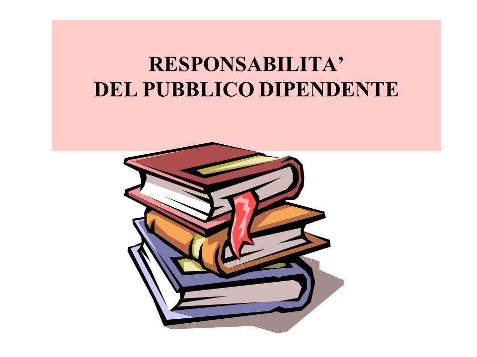 RESPONSABILITA' DEL PUBBLICO DIPENDENTE