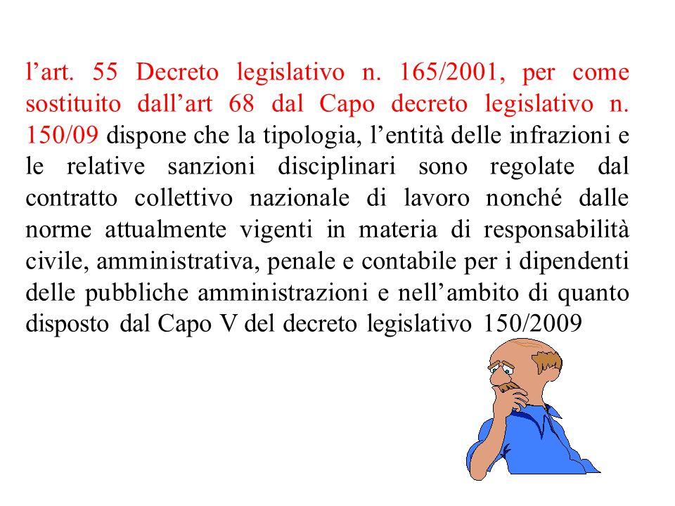 l'art. 55 Decreto legislativo n