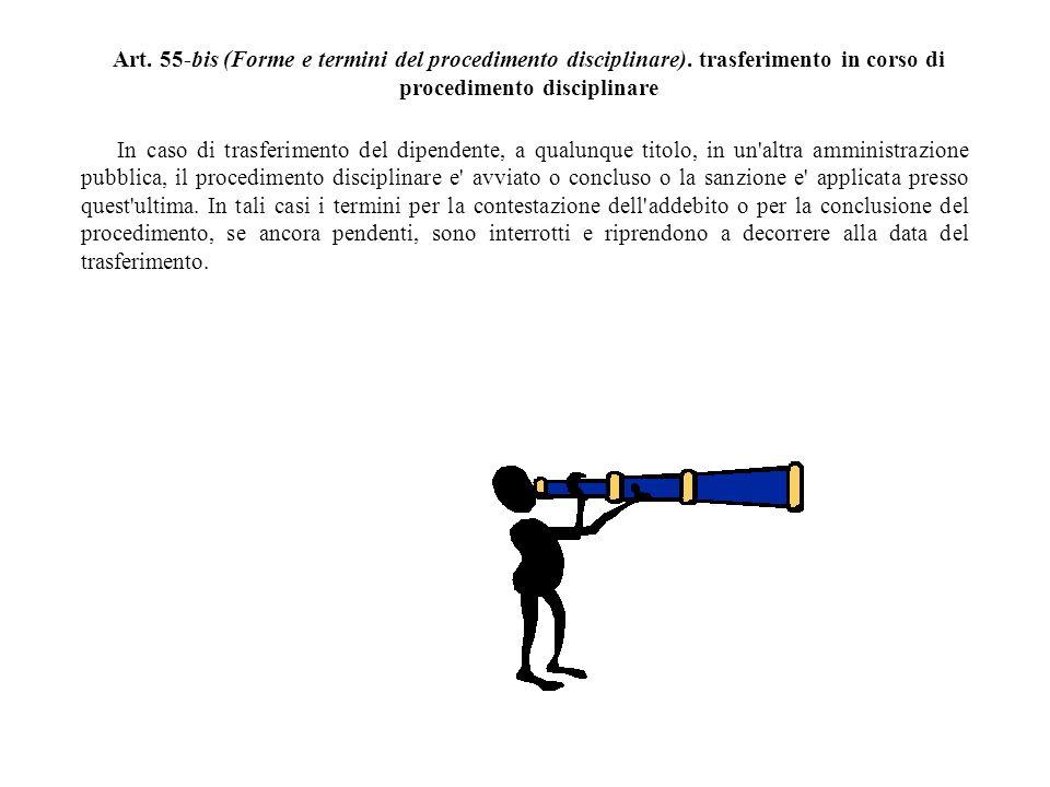 Art. 55-bis (Forme e termini del procedimento disciplinare)