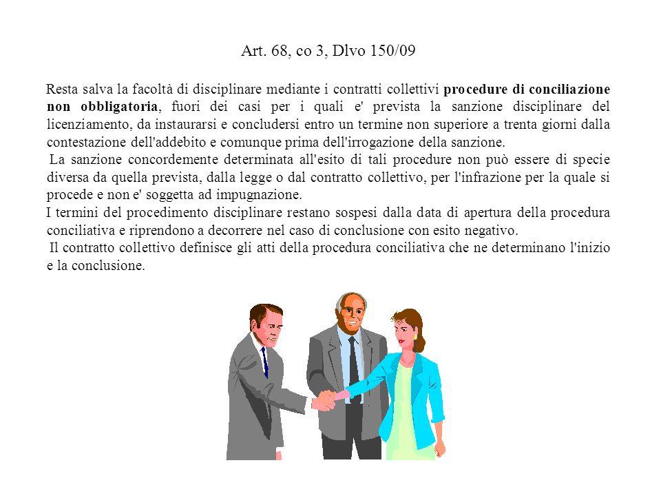 Art. 68, co 3, Dlvo 150/09