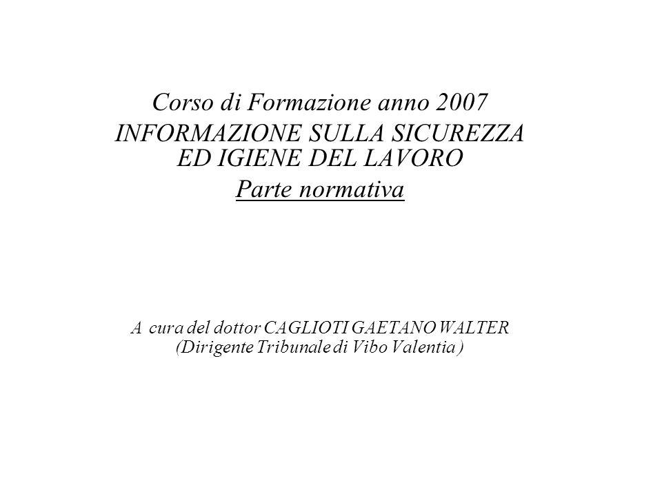 Corso di Formazione anno 2007