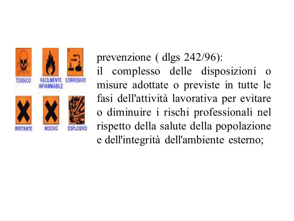 prevenzione ( dlgs 242/96):