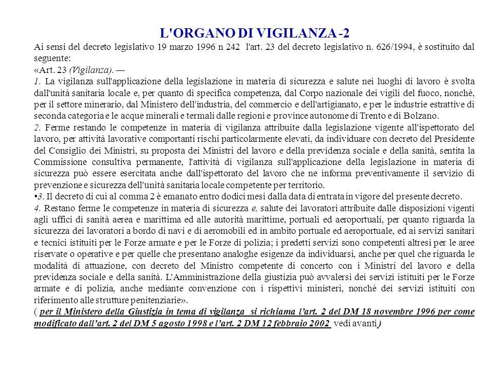 L ORGANO DI VIGILANZA -2