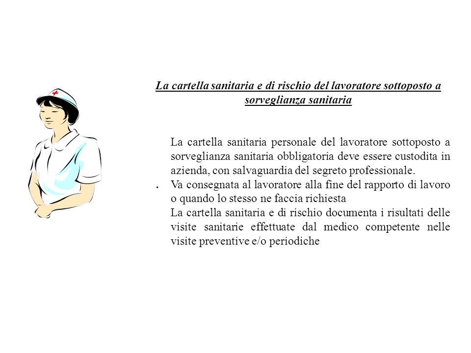 La cartella sanitaria e di rischio del lavoratore sottoposto a sorveglianza sanitaria