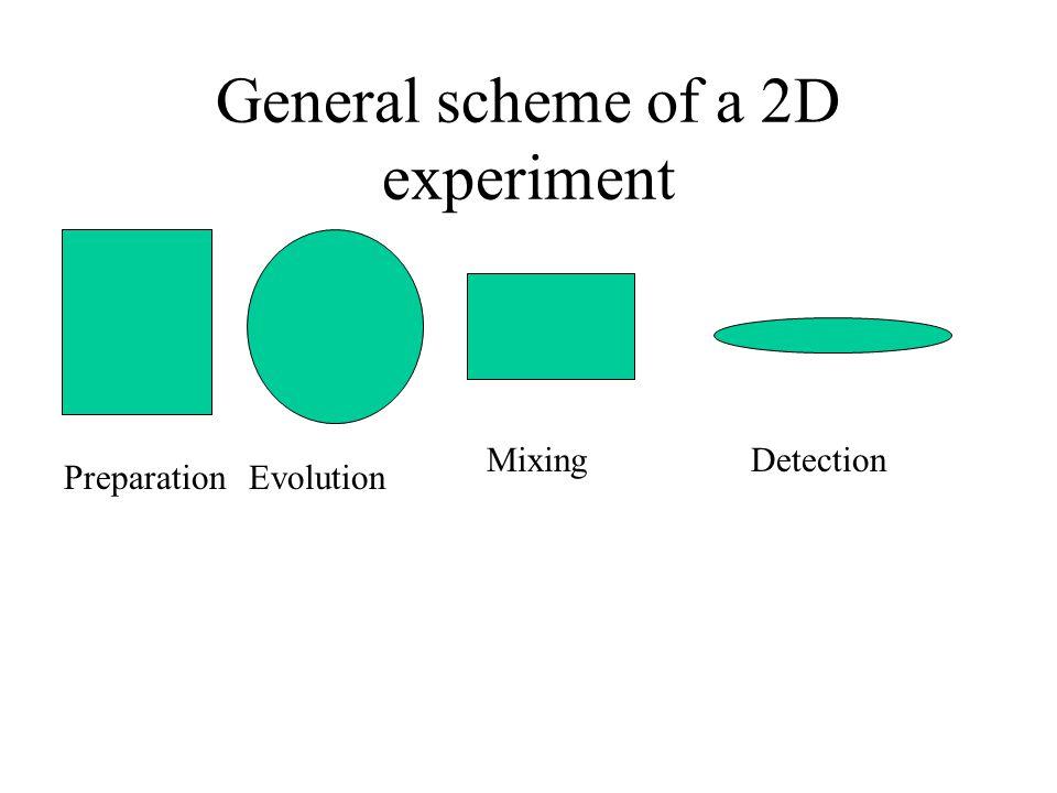 General scheme of a 2D experiment