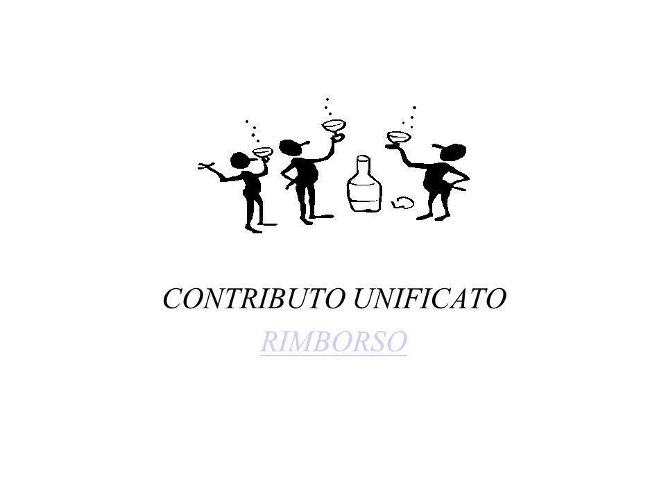 CONTRIBUTO UNIFICATO RIMBORSO