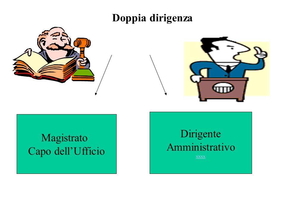 Doppia dirigenza Dirigente Magistrato Amministrativo Capo dell'Ufficio