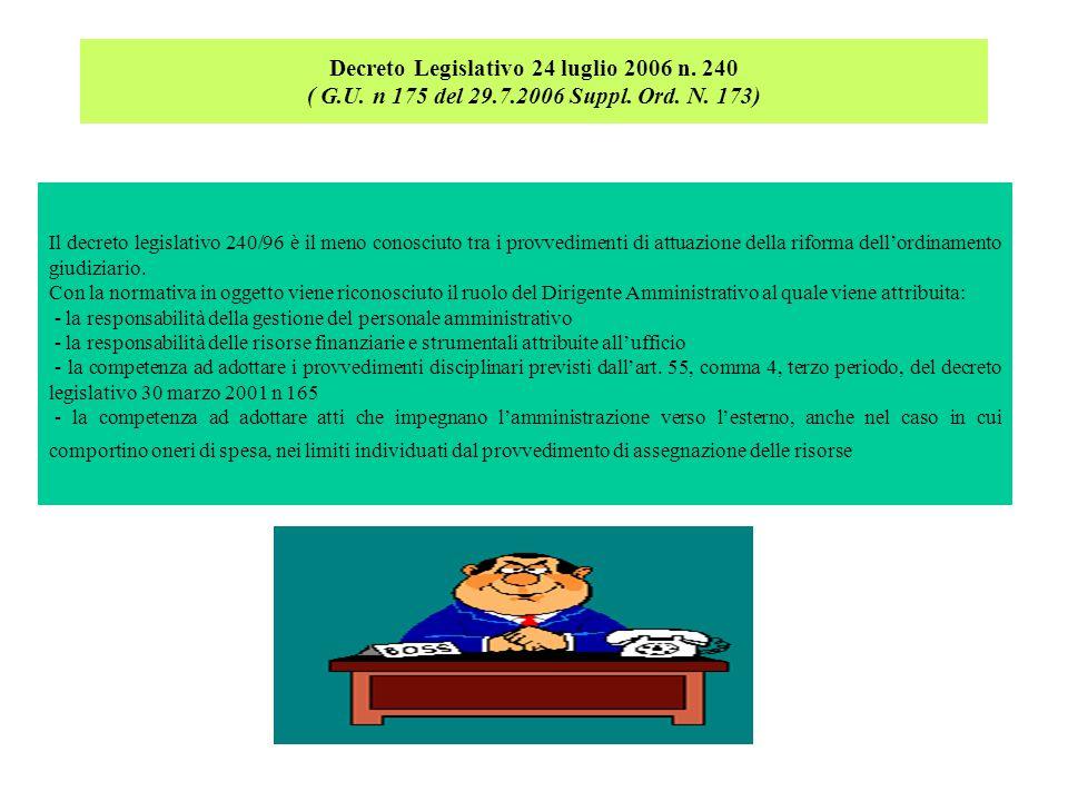 Decreto Legislativo 24 luglio 2006 n. 240 ( G. U. n 175 del 29. 7