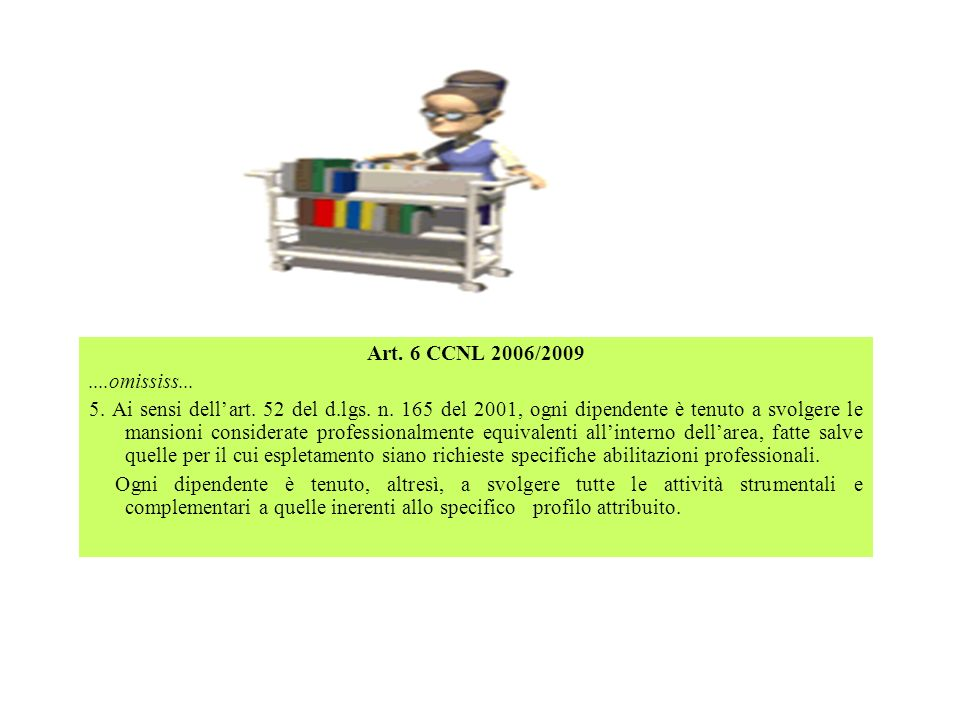 Art. 6 CCNL 2006/2009....omississ...