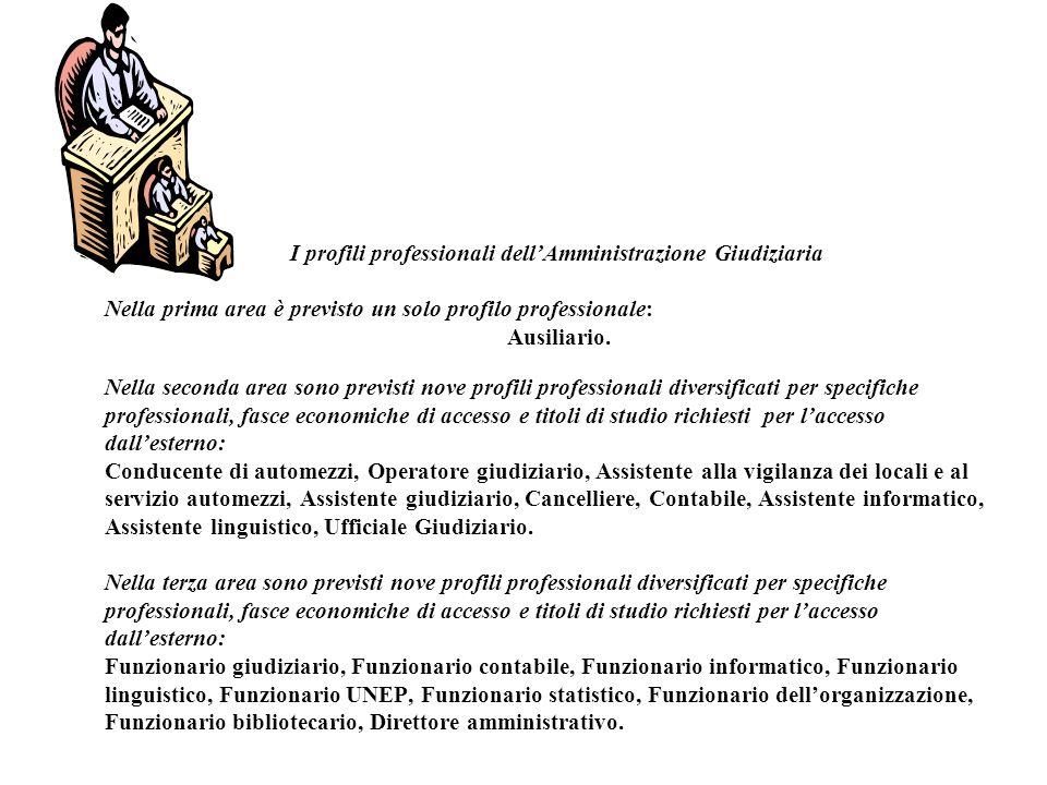 I profili professionali dell'Amministrazione Giudiziaria