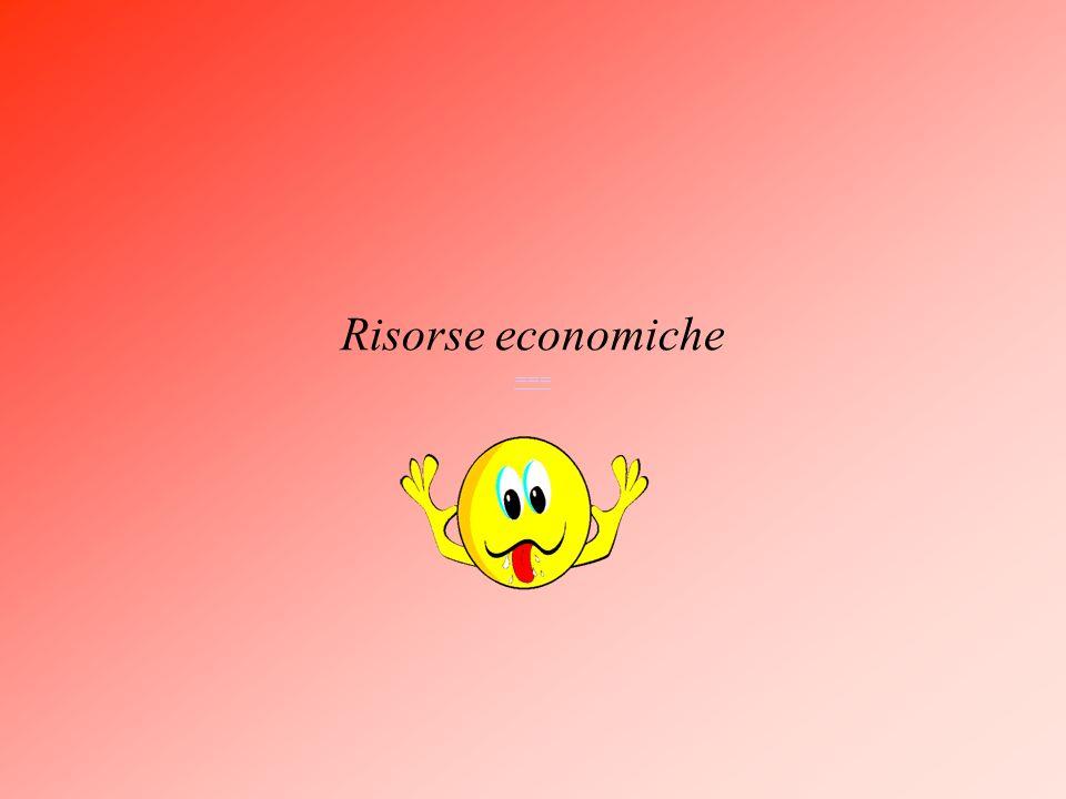 Risorse economiche ===
