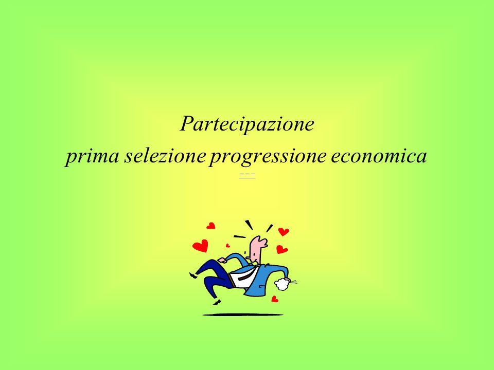 prima selezione progressione economica