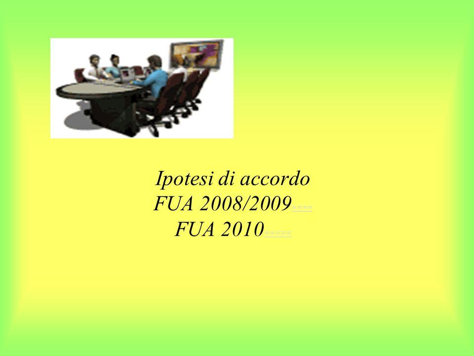 Ipotesi di accordo FUA 2008/2009==== FUA 2010=====