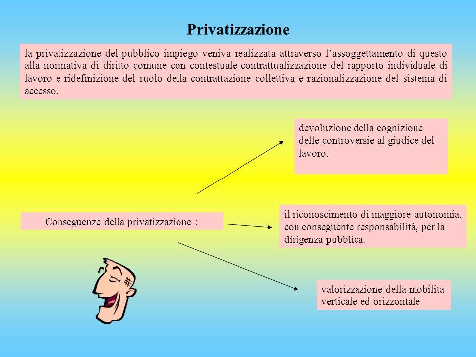 Conseguenze della privatizzazione :