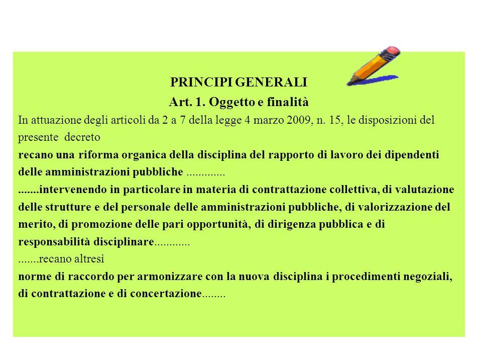 PRINCIPI GENERALI Art. 1. Oggetto e finalità