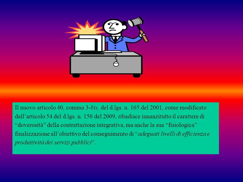 Il nuovo articolo 40, comma 3-bis, del d. lgs. n
