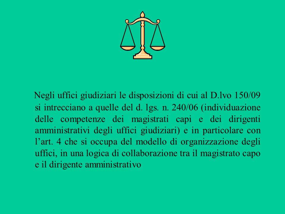 Negli uffici giudiziari le disposizioni di cui al D